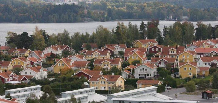 Bostadspriserna på Ekerö har stigit med 52 procent